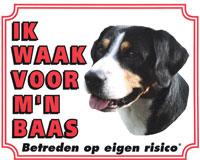 Waakbord Entlebucher Sennenhond