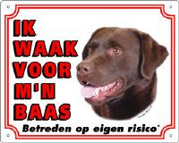 Waakbord Labrador bruin
